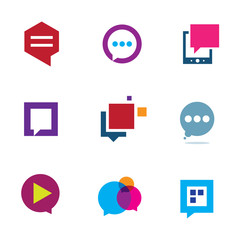 Social community and interaction chat logo bubble message icon