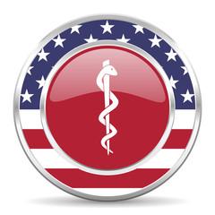emergency american icon, usa flag
