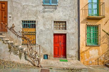 Facade of typical italian house.
