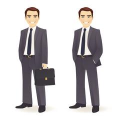 Businessman set on white background