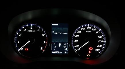 Dashboard of modern car