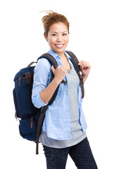 Travel woman with backpack