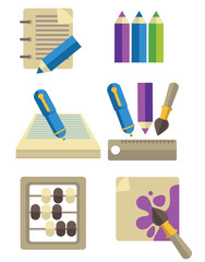 vector collection of education icons