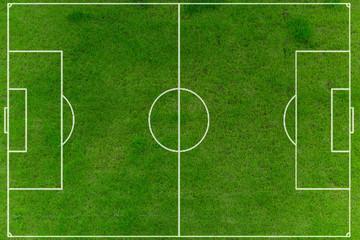 Fußballfeld auf Rasen