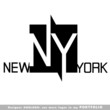 new york, logo, vector, city, statue, usa, new, york, symbol