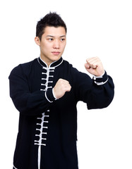 Pose of Chinese martial art