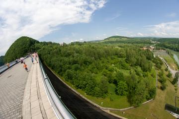 Zapora wodna w Solinie, Bieszczady, Polska