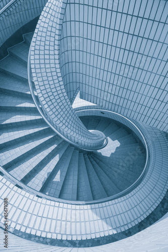 Poster Kanaal modern design staircase