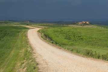 Tuscan landscape before the storm.