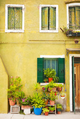 Picturesque old charming street in Italy