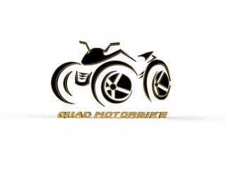 Quad bike on a white background