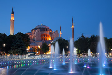 Aya Sofya (St. Sophia) at night, Istanbul