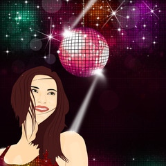 Disco Girl Music Background