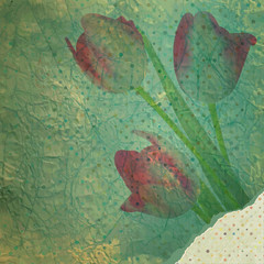 Vintage tulip wallpaper pattern. EPS 10