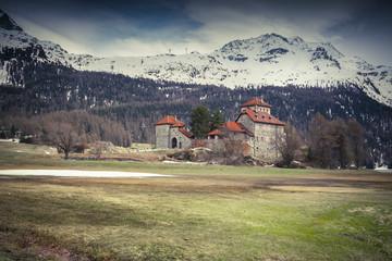 Villa on Lake Silvaplana, Alps, Switzerland