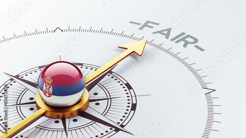 Serbia Fair Concept