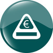 sign icon with euro money sign. warning symbol