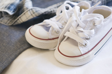 Baby white shoes