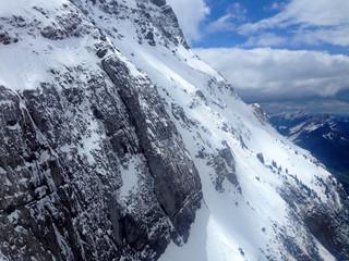 Snow Mountain Säntis Alps Switzerland