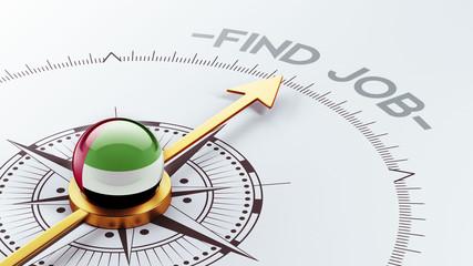 United Arab Emirates. Find Job Concept