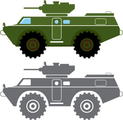 Combat vehicle vector