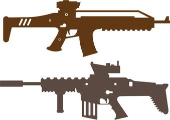 Combat rifles vector