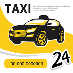 taxi template, car abstract vector