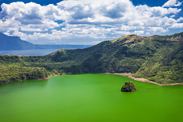 Lake inside Taal volcano