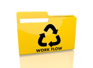 file folder with workflow symbol