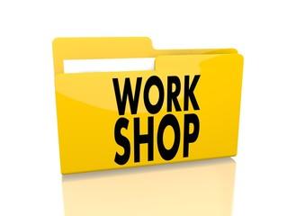 file folder with workshop symbol