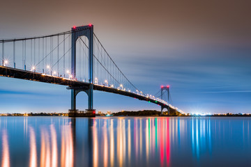 Whitestone Bridge at dusk