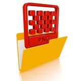 file folder with png file symbol poster