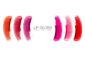 Lip Gloss Colorful Swatches