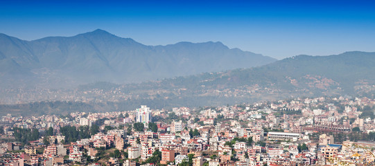 Panorama view to Kathmandu city
