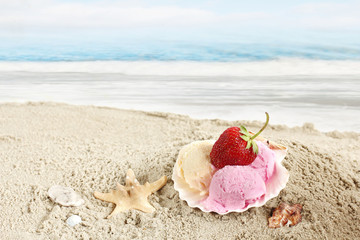 ice creams on the beach