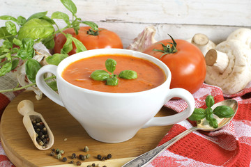 cream of tomato with basil