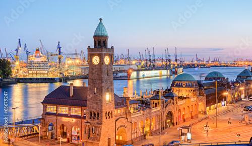 Deurstickers Poort Hafen in Hamburg