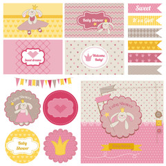 Baby Shower Bunny Party Set