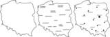 Fototapety Polska mapa