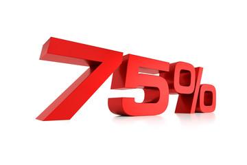 Serie Prozente - 75 Prozent