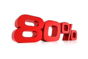 Serie Prozente - 80 Prozent