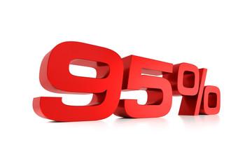 Serie Prozente - 95 Prozent