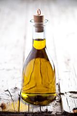 fresh olive oil in bottle