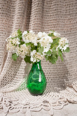 still life bouquet with viburnum