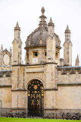 All Souls College entrance gate. Oxford, UK