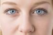 canvas print picture - Closeup woman eyes