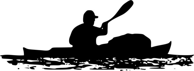 sea kayaker silhouette
