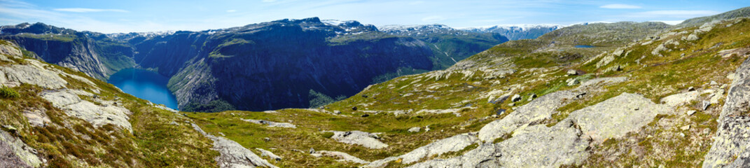 Ringedalsvatnet lake panorama (Norway)