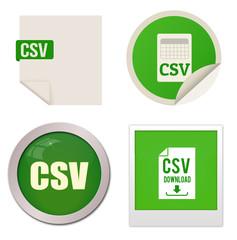 Csv icon set