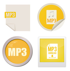 Mp3 icon set